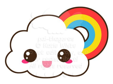 Pencil And In Color Clouds Clipart