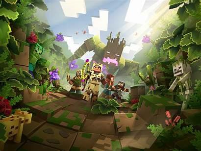 Minecraft Dungeons Awakens Jungle Hero 4k Resolution