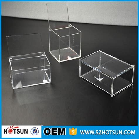 2017 Manufacturing Customized Cheap Square Clear Acrylic