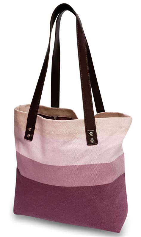 striped shoulder tote monogrammed