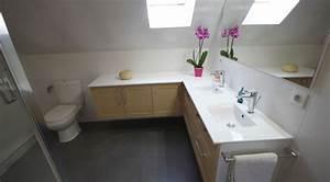 Salle De Bain En L : une salle de bain sur mesure sous pente atlantic bain ~ Melissatoandfro.com Idées de Décoration