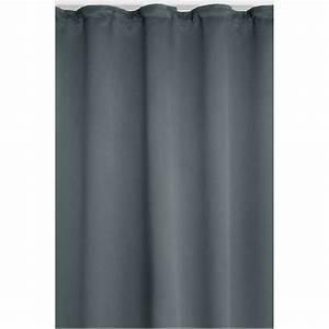 Vorhang Grau Blickdicht : vorhang gardine blickdicht dekoschal kr uselband in grau ~ Orissabook.com Haus und Dekorationen