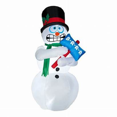 Snowman Shivering Animated Inflatable Cold Snowmen Snow