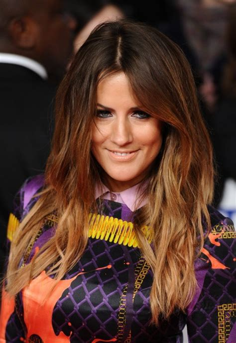 caroline flack long curly ombre hair hairstyles weekly