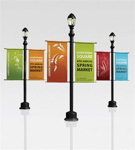 light pole banners pin pole banners signs aluminum and road custom on