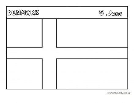 printable flag  denmark coloring page printable