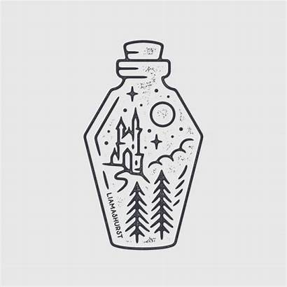 Potion Bottle Drawing Easy Draw Cool Quick