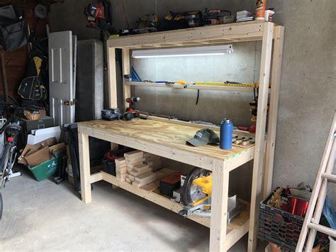 slightly reinforced family handyman workbench workbenches