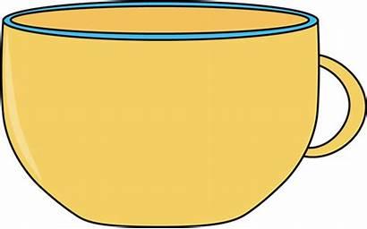 Cup Clipart Clip Tea Yellow Cliparts Cups