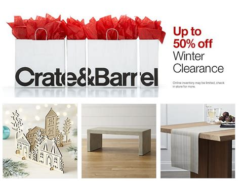 crate barrel 50 winter clearance