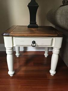 Beautiful rustic solid pine coffee and end tables will add for White coffee table with dark wood top