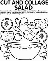 Coloring Pages Salad Fruit Sheet Crayola sketch template