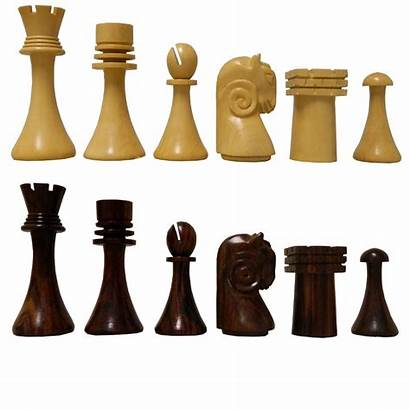 Chess Pieces Artistic Rosewood Cardinal Ram Head