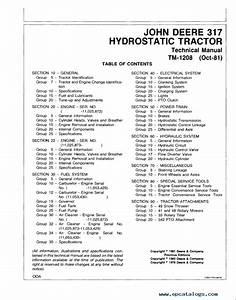 John Deere 317 Parts Manual
