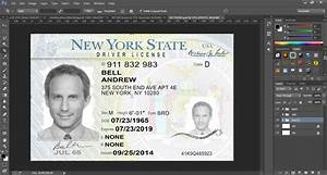 New York Driver License Template Psd