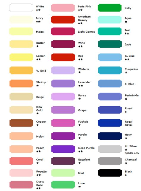 color order fabric and color chart tutu 201 toile