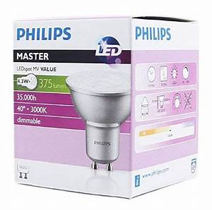 Philips Gu10 Led : philips gu10 led dimmable master range 50w equivalent bulb ~ Buech-reservation.com Haus und Dekorationen