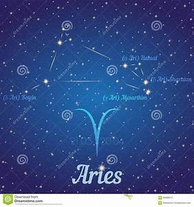 Zodiac Constellation Aries - Position Of Stars And Their ...