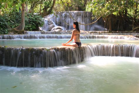 Waterfall meditation - Laos | Yoga, Yoga community, Yoga ...