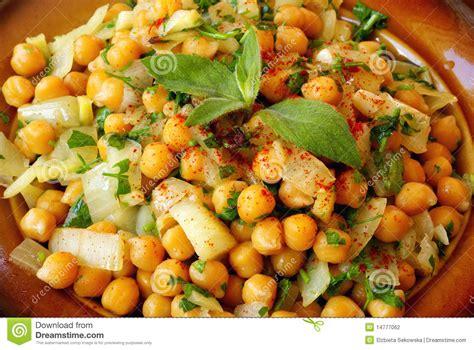 salade chaude marocaine de pois chiches photographie stock image 14777062