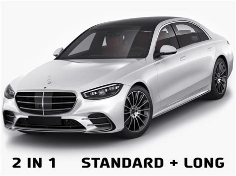 Our first look at new luxury. 3D Mercedes-Benz S-class 2021 AMG-line LWB and SWB