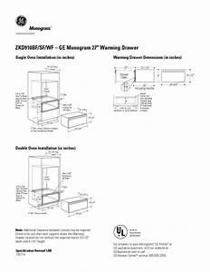 Monogram Zkd910bf Manuals