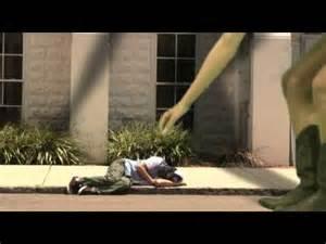 Giant Girl Eats Homeless Man