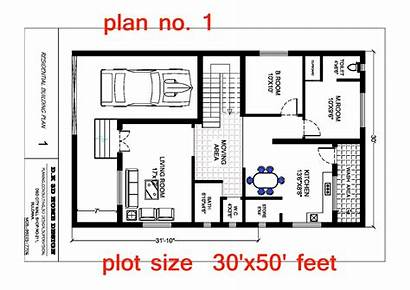 Plan Plans Feet Bedroom Plot 3d India