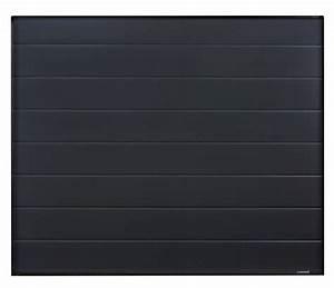 porte de garage sectionnelle quotvillaquot mono rainure With porte de garage sectionnelle noire