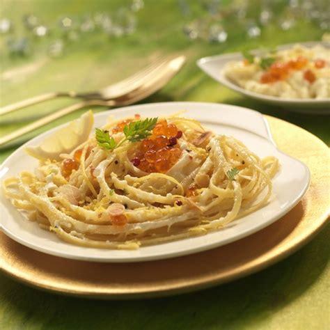 plat linguine au citron mascarpone et oeufs de saumon alliance le premier magazine de la