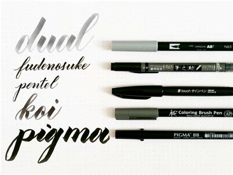 Coloring With Brush Pen by Comparison Of Five Calligraphy Brush Pens Fonts
