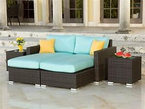 Lounge Set Rattan : source outdoor lucaya wicker 4 piece sectional chaise lounge set ~ Whattoseeinmadrid.com Haus und Dekorationen