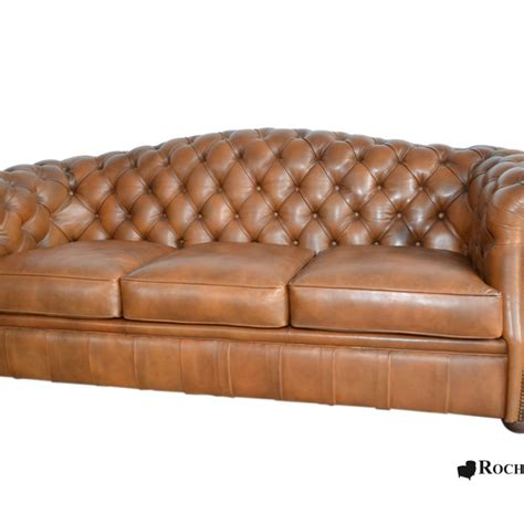 canapé cuir naturel canapé chesterfield cook dossier rond