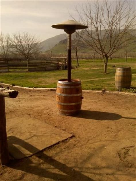 outdoor heater wine barrel trash can patio heater with heater parts
