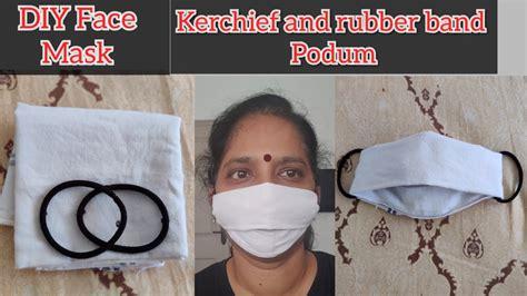 diy face mask  handkerchief  rubber bands face
