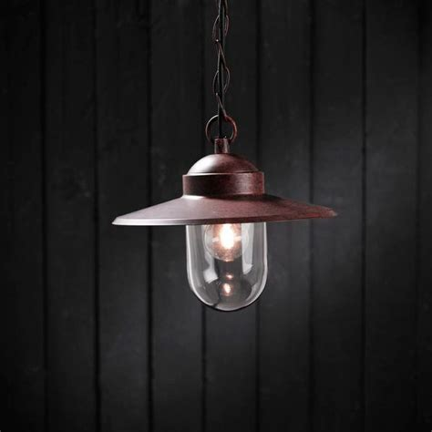 nordlux luxembourg outdoor pendant light rusty