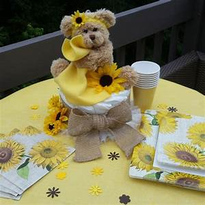 Sunflower Baby Shower, Sunflower Themed baby Shower