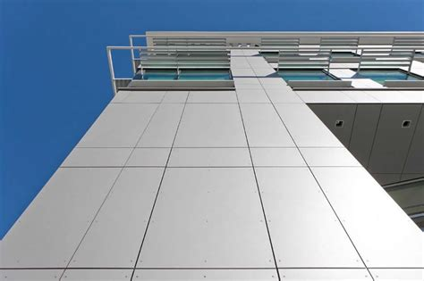 swisspearl composite cement panels give  building high visual impact   durable exterior
