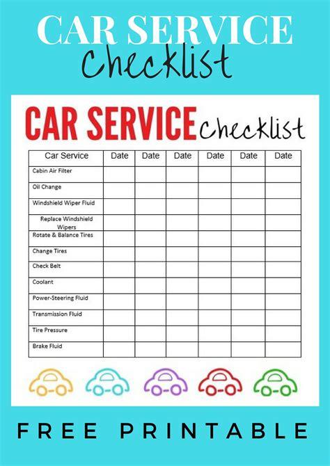 Car In Service by Car Service Checklist Explores Southwest Florida