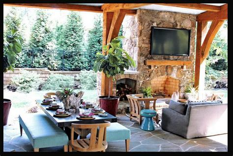 outdoor fireplace on patio sunroom ideas enclosed