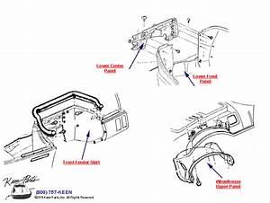 1993 Corvette Fender Skirts And Wheelhouse Parts