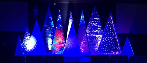 silver trees church stage design ideas