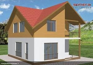 Proiecte de case cu mansarda, sub 100 de metri patrati ...