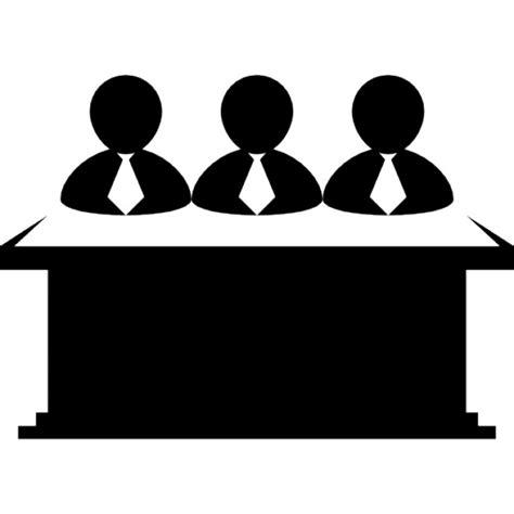 icone de bureau hommes d 39 affaires équipe derrière un ordinateur de bureau