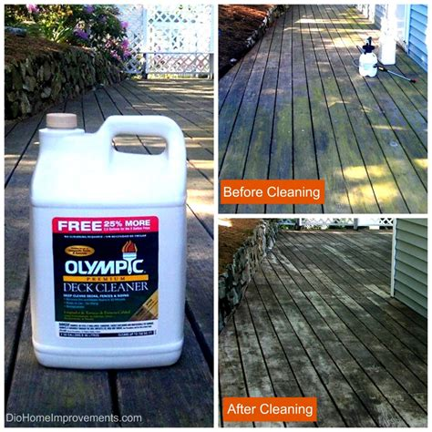 Olympic Deck Cleaner by Olympic Maximum Stain Deck Before After Dio Home