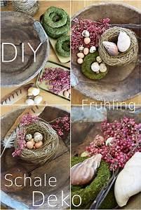 Schale Dekorieren Frühling : wie ihr eine schale kreativ und fr hlingshaft mit naturmaterialien dekoriert diy deko ~ Cokemachineaccidents.com Haus und Dekorationen