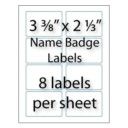 avery business card template 2 x 3 5 name badge labels 3 3 8 quot x 2 1 3 quot avery 174 5395