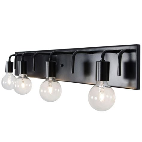 Black Bathroom Lighting Fixtures  Lighting Ideas
