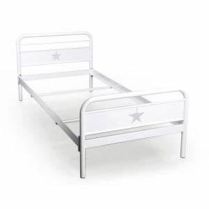 Lit Metal Blanc : lit metal 90x190 blanc comparer 74 offres ~ Teatrodelosmanantiales.com Idées de Décoration