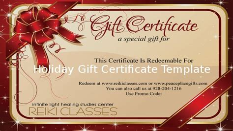 holiday gift certificate template  psd word ai